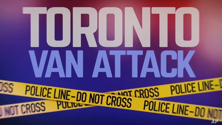 TORONTO VAN ATTACK lettering, over POLICE tape, finished graphic