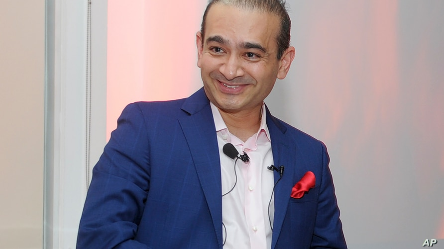 FILE - In this Tuesday, Sept. 8, 2015 file photo luxury jeweler Nirav Modi attends a dinner to celebrate the opening of the…