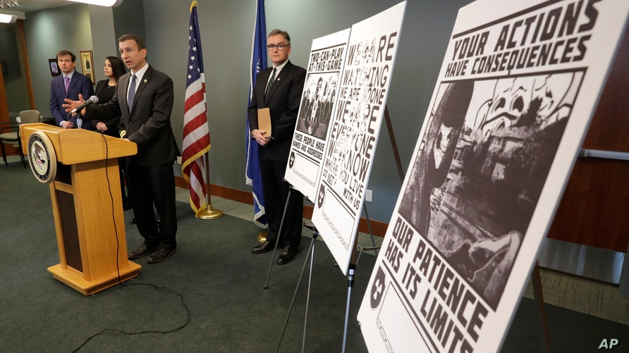 FILE - In this Feb. 26, 2020, file photo, Raymond Duda, FBI Special Agent in Charge in Seattle, speaks during a news conference…