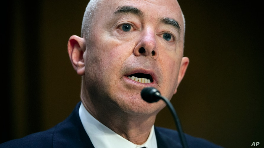 Homeland Security Secretary Alejandro Mayorkas testifies before the Senate Appropriations committee hearing to examine domestic…