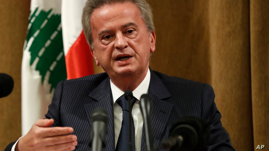 Riad Salameh, the governor of Lebanon's Central Bank, speaks during a press conference, in Beirut, Lebanon, Nov. 11, 2019. On…
