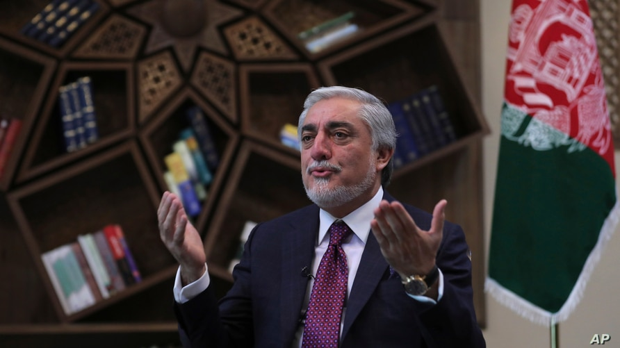 Abdullah Abdullah, Chairman of the High Council for National Reconciliation gives an interview to The Associated Press at the…