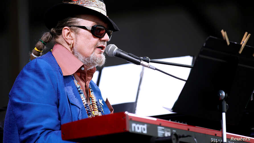 FILE PHOTO: Musician Dr. John performs during the New Orleans Jazz and Heritage Festival in New Orleans