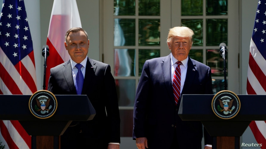 FILE PHOTO: U.S. President Trump and Poland's President Duda attend a joint news conference in Washington