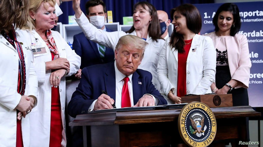 U.S. President Trump hosts executive order signing ceremony at the White House in Washington