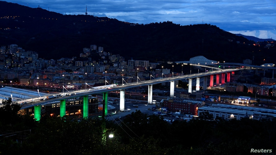 Official inauguration of the new Genoa bridge