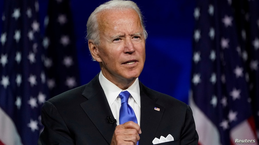 FILE PHOTO: Former U.S. Vice President Joe Biden accepts the 2020 Democratic presidential nomination