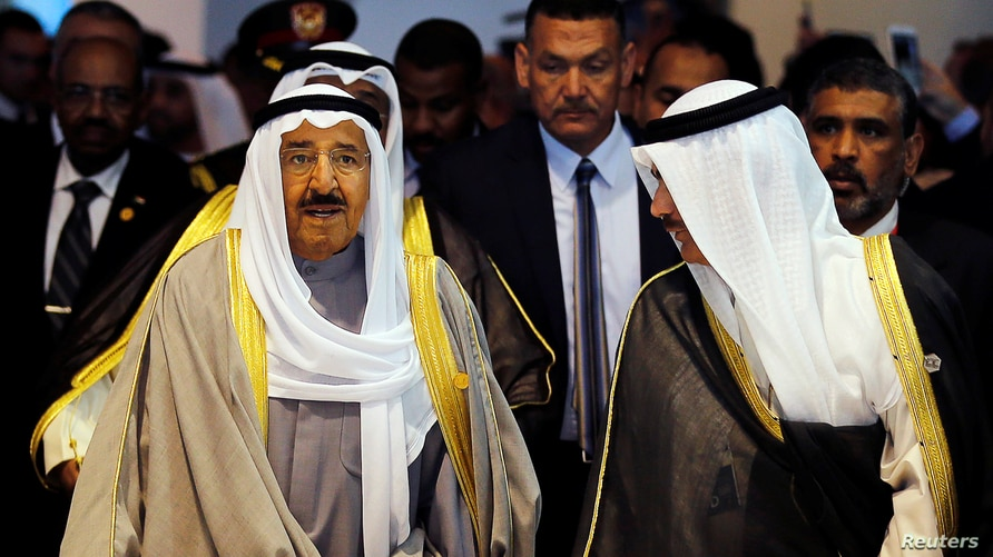 FILE PHOTO: Kuwait's then-crown prince, Sheikh Nawaf, arrives for the opening of the Economic Development Conference in Sharm el-Sheikh