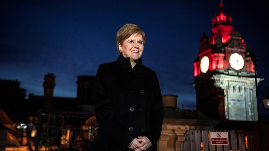 Scotland's First Minister Nicola Sturgeon opens the new headquarters of Scottish National Investment Bank