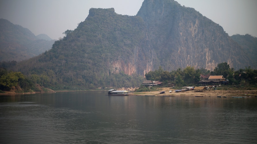 FILE PHOTO: A general view of the future site of the Luang Prabang dam is seen on the Mekong River outskirt of Luang Prabang province