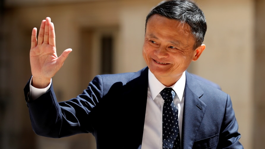 "FILE PHOTO: Jack Ma, chairman of Alibaba Group arrives at the ""Tech for Good"" Summit in Paris, France"