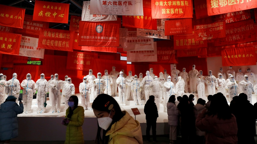 FILE PHOTO: Exhibition on China's fight against the coronavirus disease (COVID-19) outbreak in Wuhan
