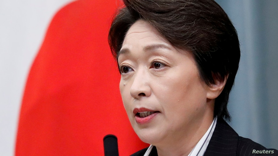 FILE PHOTO: FILE PHOTO: Japan's Olympics Minister Hashimoto attends a news conference at PM Abe's official residence in Tokyo