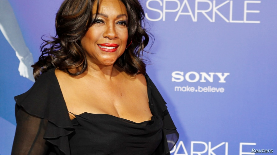 """FILE PHOTO: Singer Mary Wilson, a founding member of the Motown female singing group The Supremes, arrives as a guest at the premiere of the new film """"Sparkle\"""