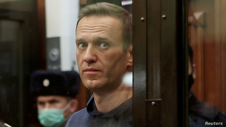 FILE PHOTO: Russian opposition leader Navalny attends a court hearing in Moscow