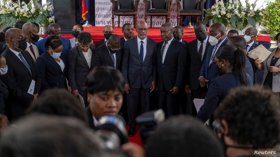 Appointment ceremony of Henry as prime minister in Port-au-Prince