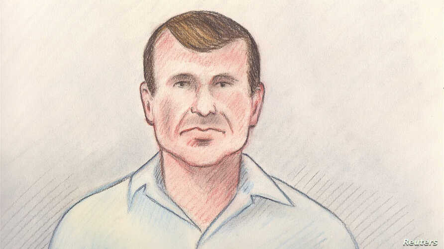 Cameron Ortis, director general with the Royal Canadian Mounted Police's intelligence unit, is shown in a court sketch from his court hearing in Ottawa, Canada, September 13, 2019. Lauren Foster-MacLeod/Handout via REUTERS  ATTENTION EDITORS - THIS IMAGE HAS BEEN SUPPLIED BY A THIRD PARTY. NO RESALES. NO ARCHIVES