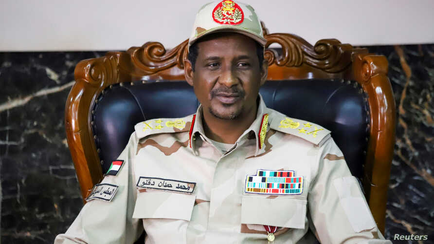 General Mohamed Hamdan Dagalo, Deputy Head of the Sudan Transitional Military Council, attends the signing ceremony of the…