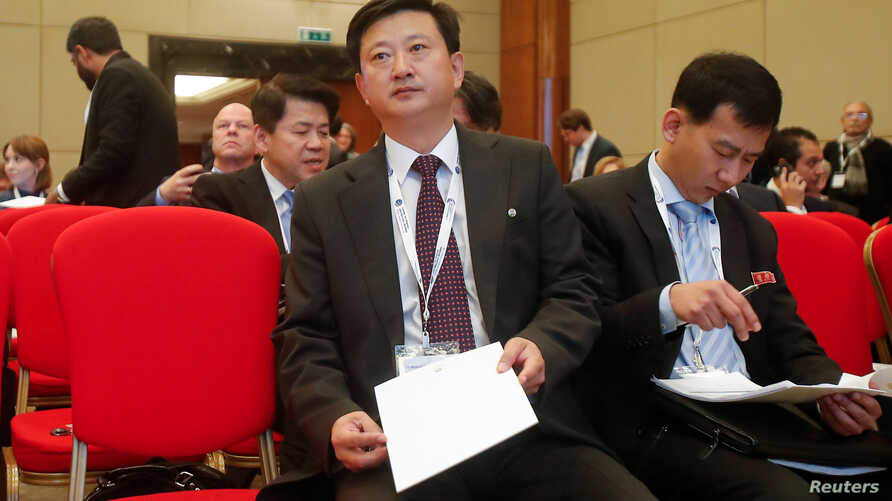 North Korean top diplomat Jo Chol Su attends the Moscow Nonproliferation Conference in Moscow, Russia November 8, 2019. REUTERS…