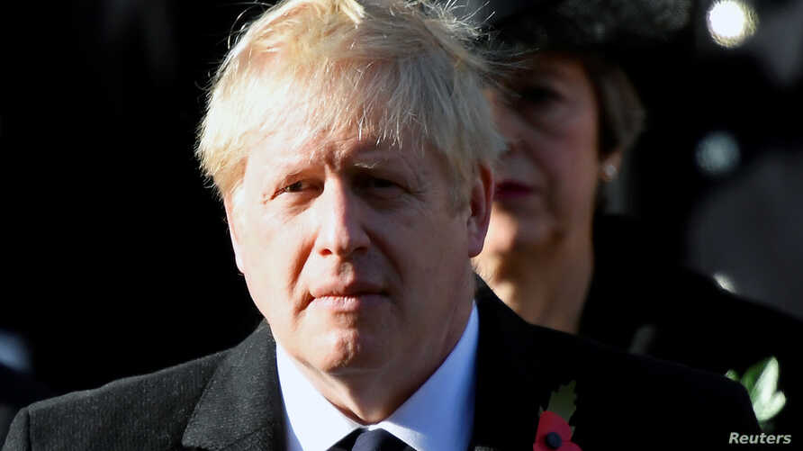 Britain's Prime Minister Boris Johnson attends a National Service of Remembrance in London