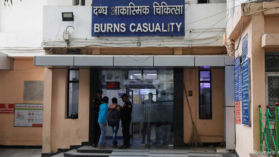 FILE PHOTO: The burns casualty ward of a hospital where a 23-year-old rape victim, who was set ablaze by a gang of men,…
