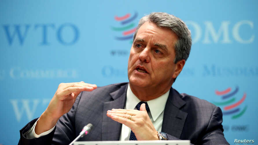 World Trade Organization (WTO) Director-General Roberto Azevedo speaks at a news conference after a two-day General Council…