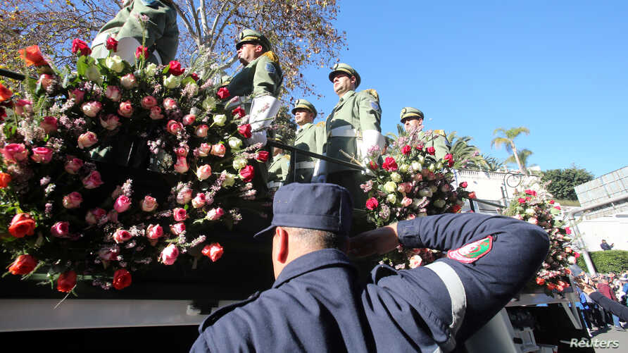 A view of a funeral procession of Algeria's military chief Lieutenant general Ahmed Gaed Salah in Algiers, Algeria  December 25…
