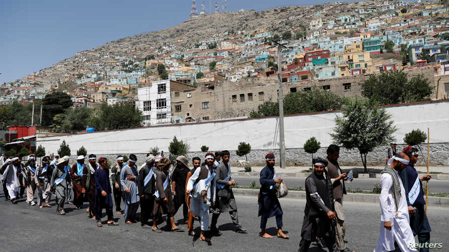 Afghan peace marchers