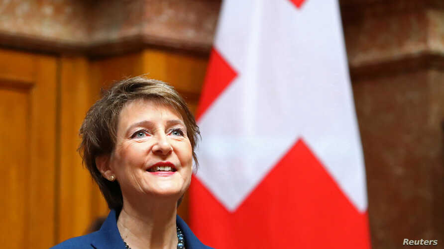 Newly-elected Swiss President Simonetta Sommaruga is seen at the Swiss parliament in Bern, Switzerland December 11, 2019…