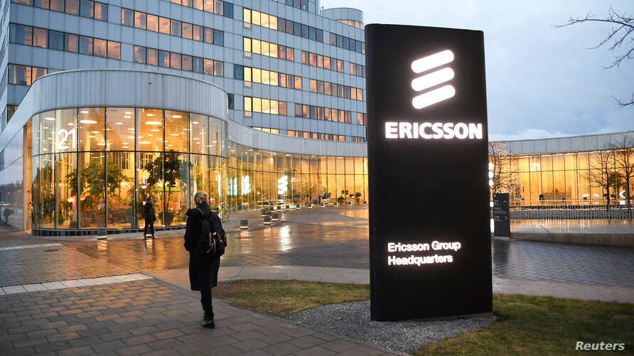 A general view of an exterior of the Ericsson headquarters in Stockholm, Sweden, January 24, 2020.  TT News Agency/Fredrik…