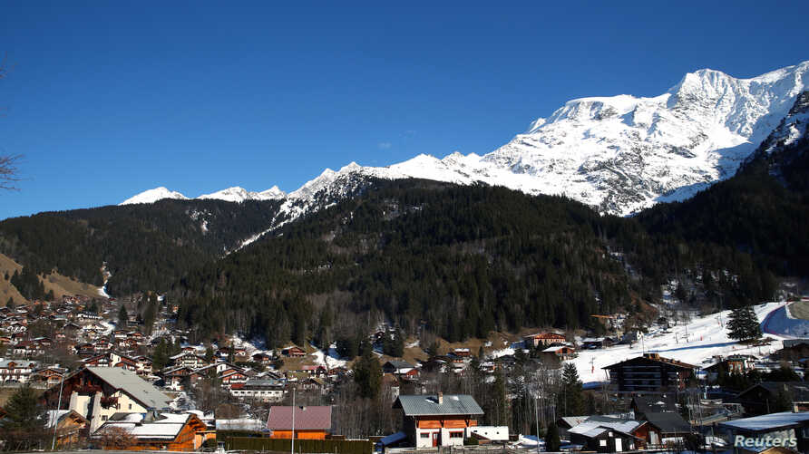 A general view shows the French Alpine resort of Les Contamines-Montjoie, France, where five British nationals including a…