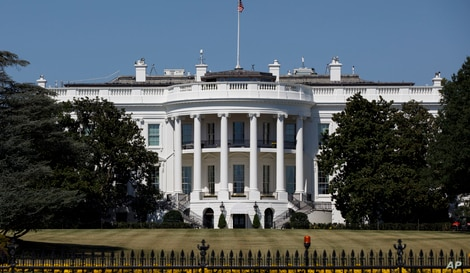 FILE - The White House is seen from the Ellipse in Washington.
