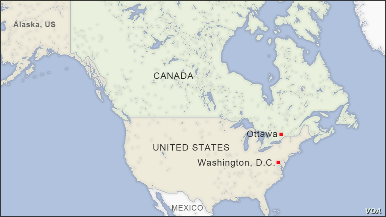 Map Of Canada And America Border Canadian Court Invalidates Asylum Agreement With the US | Voice of