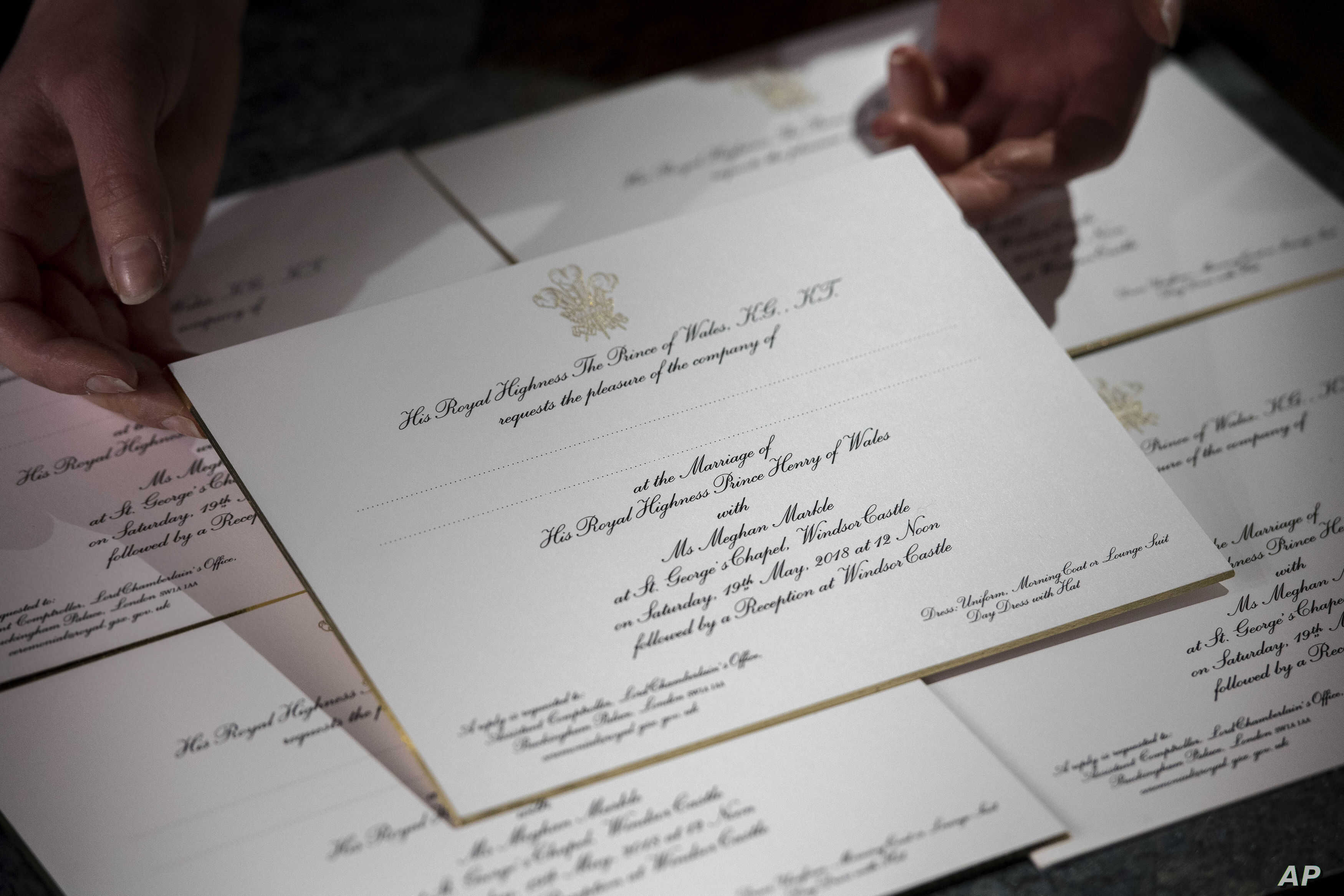 Sealed And Delivered Royal Wedding Invitations Dispatched Voice Of America English
