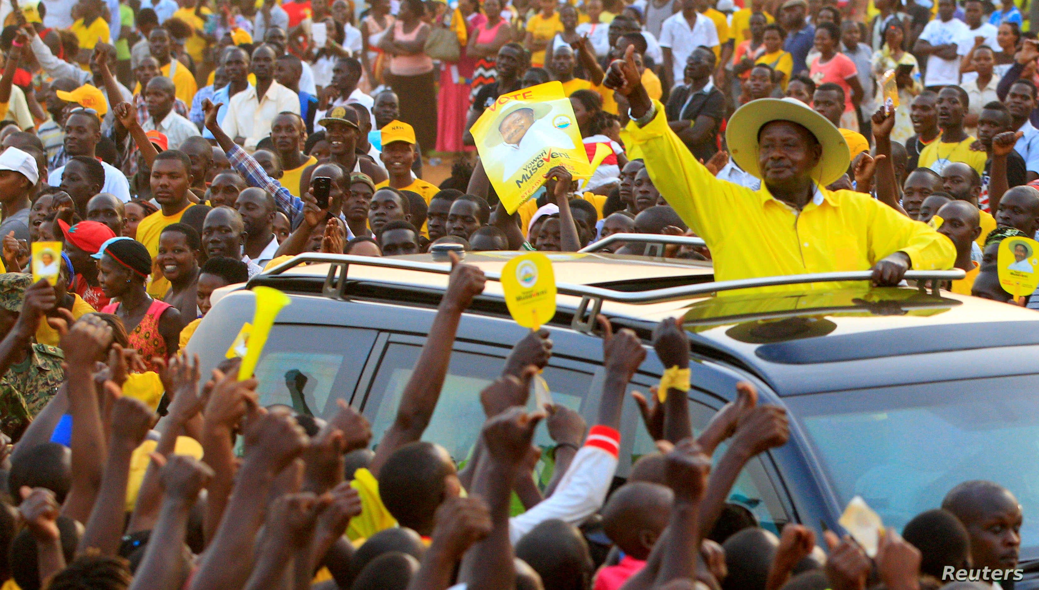 Uganda President's Car Attacked, Damaged in Campaign | Voice of America - English