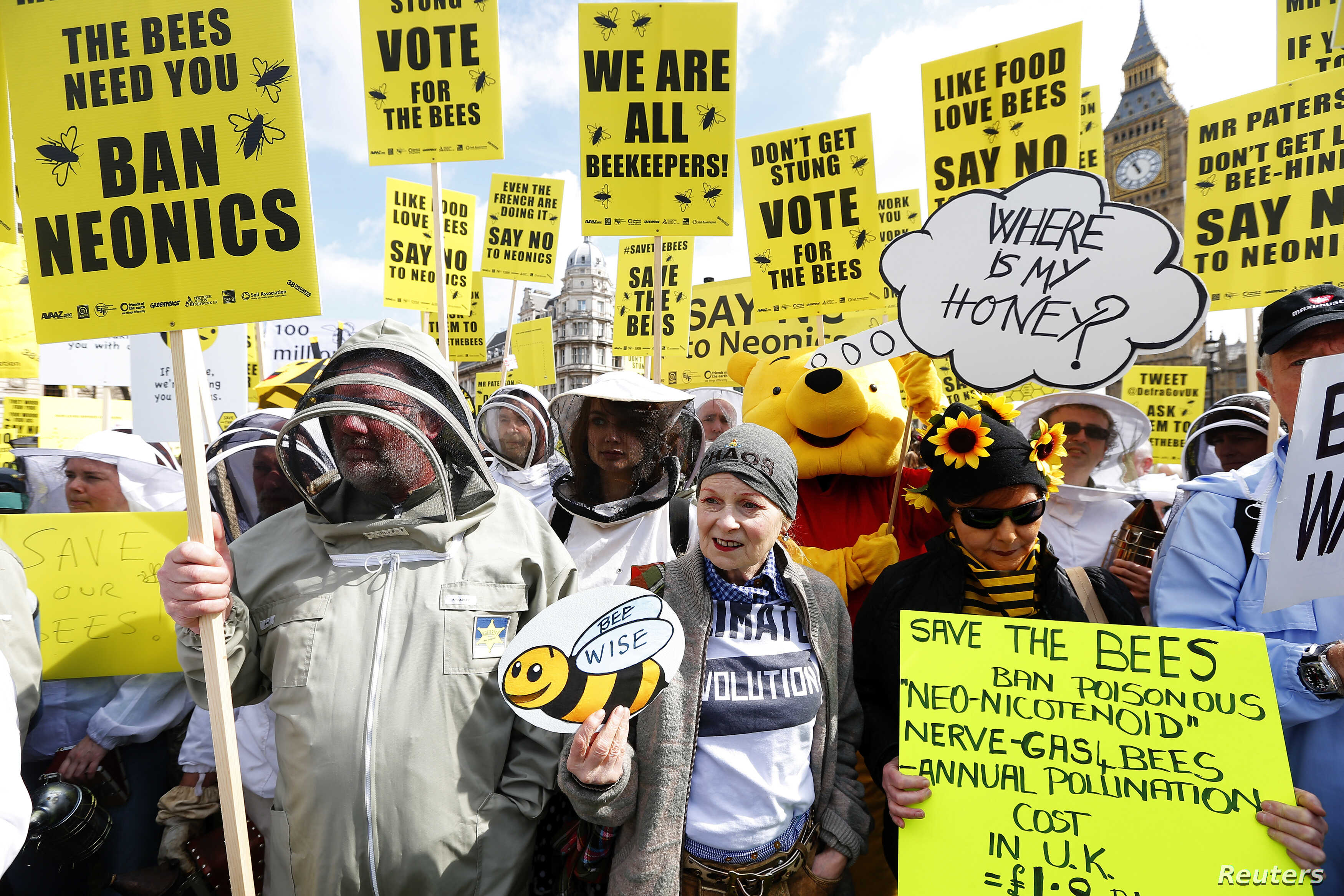 Top British Fashion Designers Create Buzz At London Bee Protest Voice Of America English