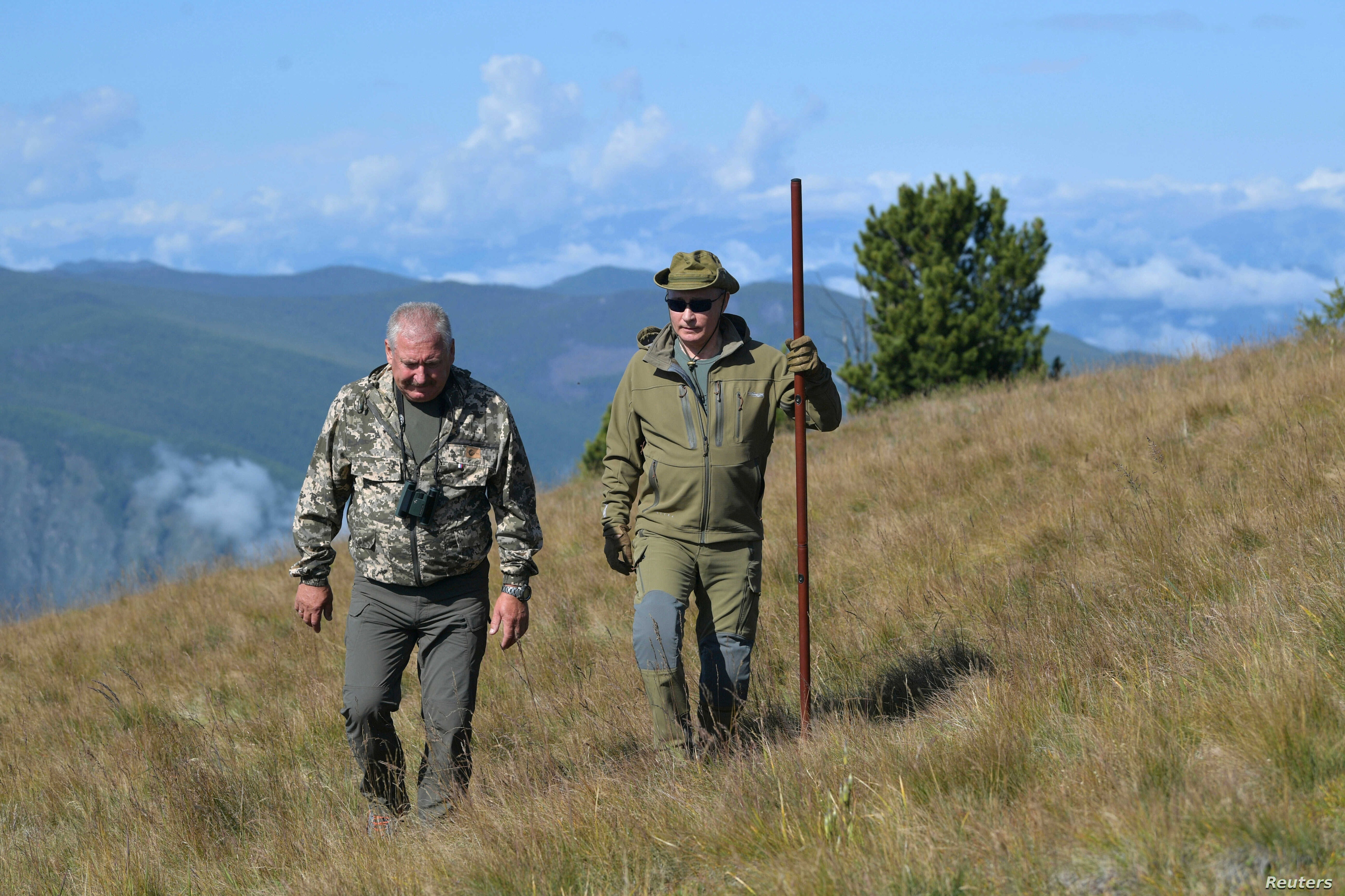 Putin Takes Birthday Hike In Siberian Mountains Voice Of America English