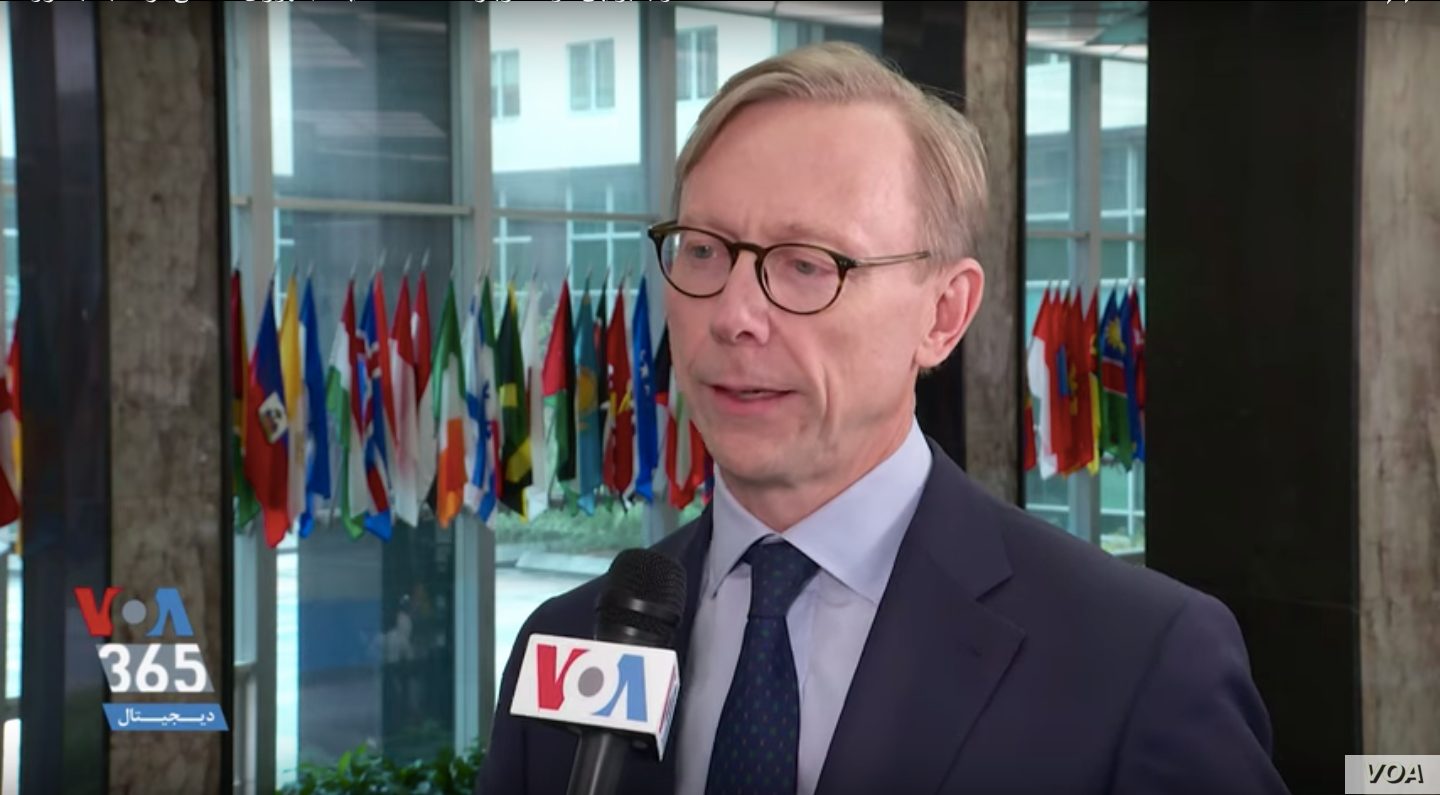 U.S. Special Representative for Iran Brian Hook speaks to VOA Persian at the State Department in Washington Feb. 26 2020