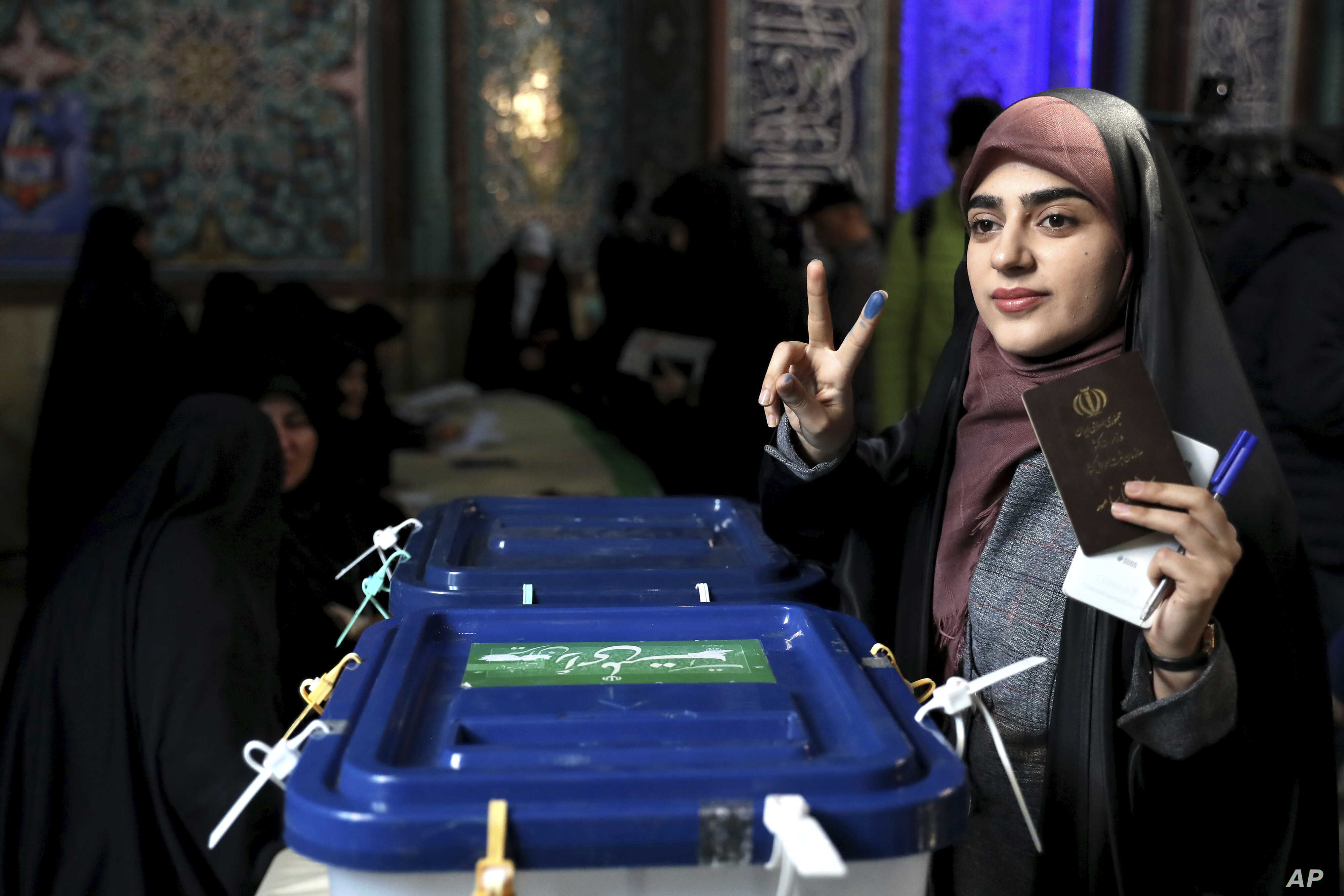 Iran State Media Claim Large Turnout in Parliamentary Election | Voice of  America - English