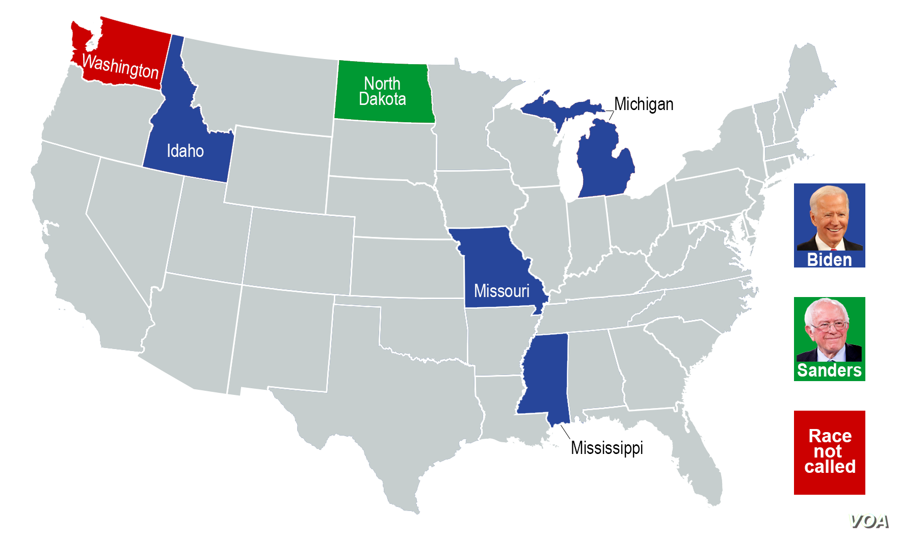 Image of: Ap Votecast A State By State Look At Democratic Primaries Voice Of America English