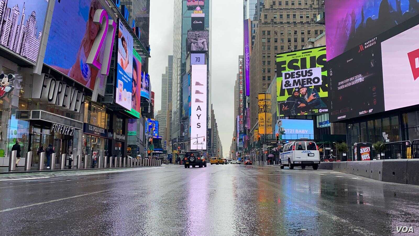 Covid 19 Diaries Virus Leaves New York City Streets Eerily Empty Voice Of America English