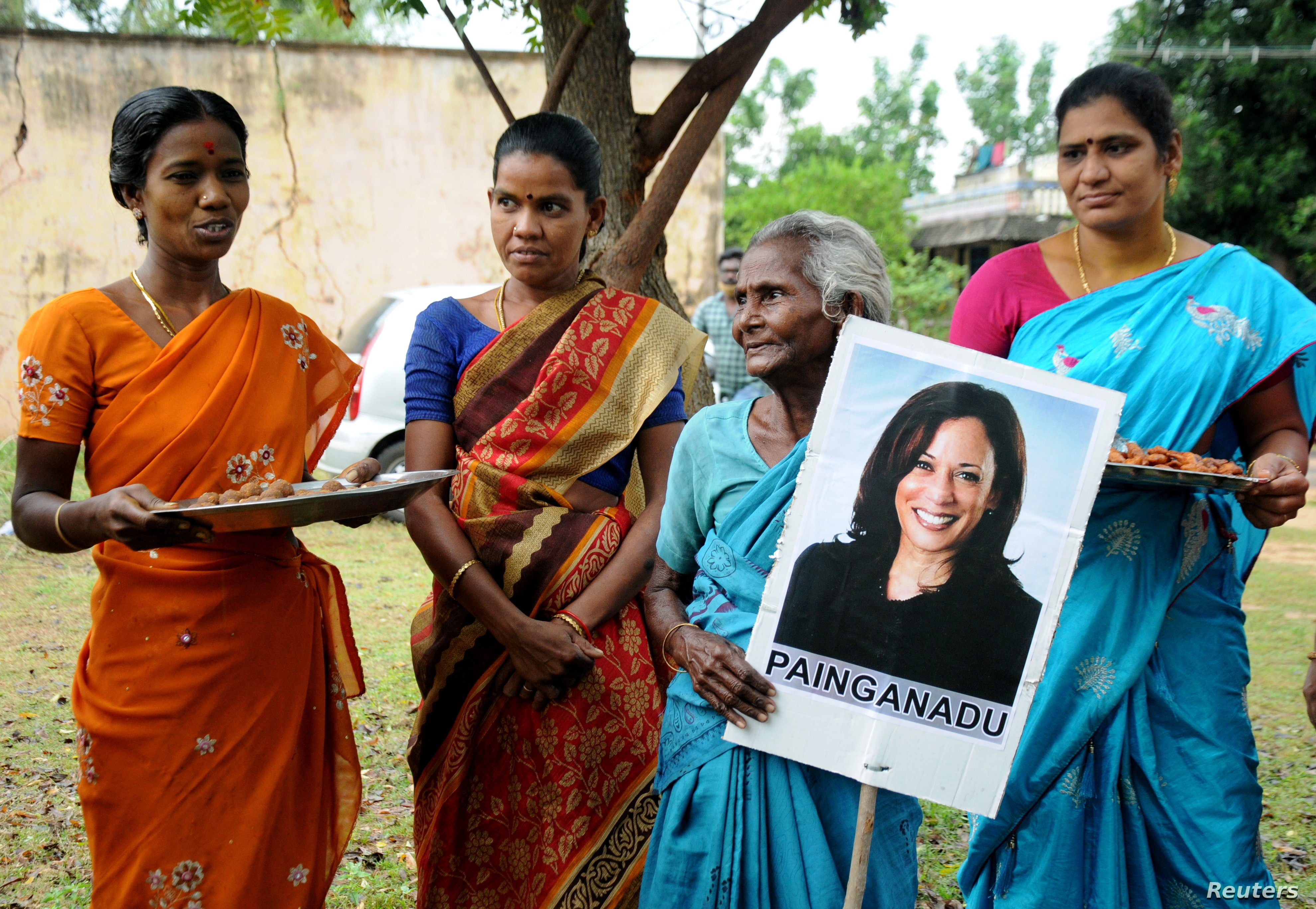Indians In Kamala Harris S Ancestral Village Rejoice In Her Projected Win Voice Of America English