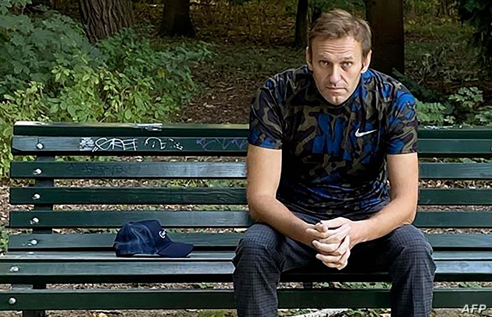 2020 on the Instagram account of @navalny shows Russian opposition activist Alexei Navalny sitting on a bench in Berlin as he was recuperating from a poisoning attempt