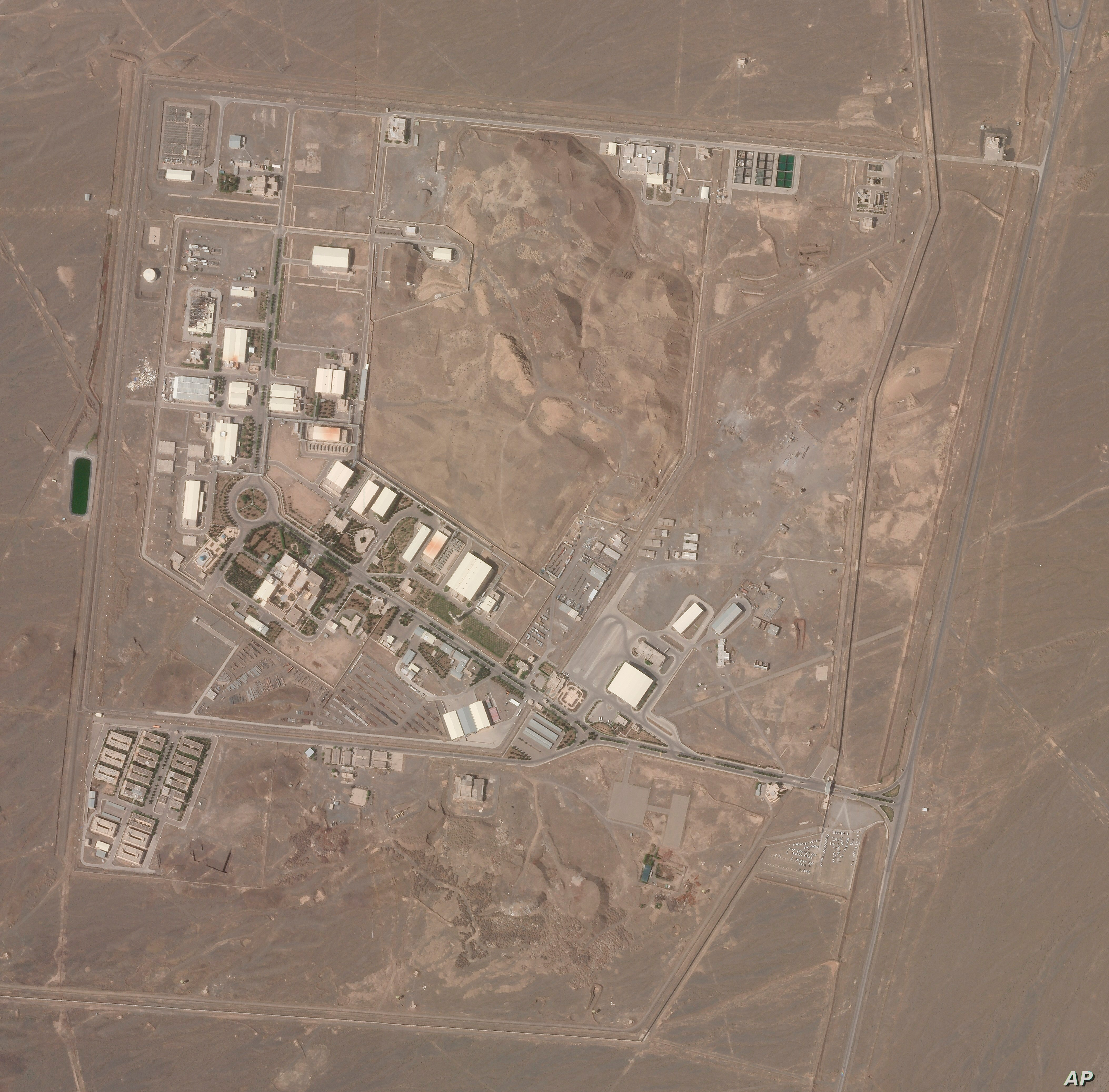 Inc. shows Iran's Natanz nuclear facility on Wednesday