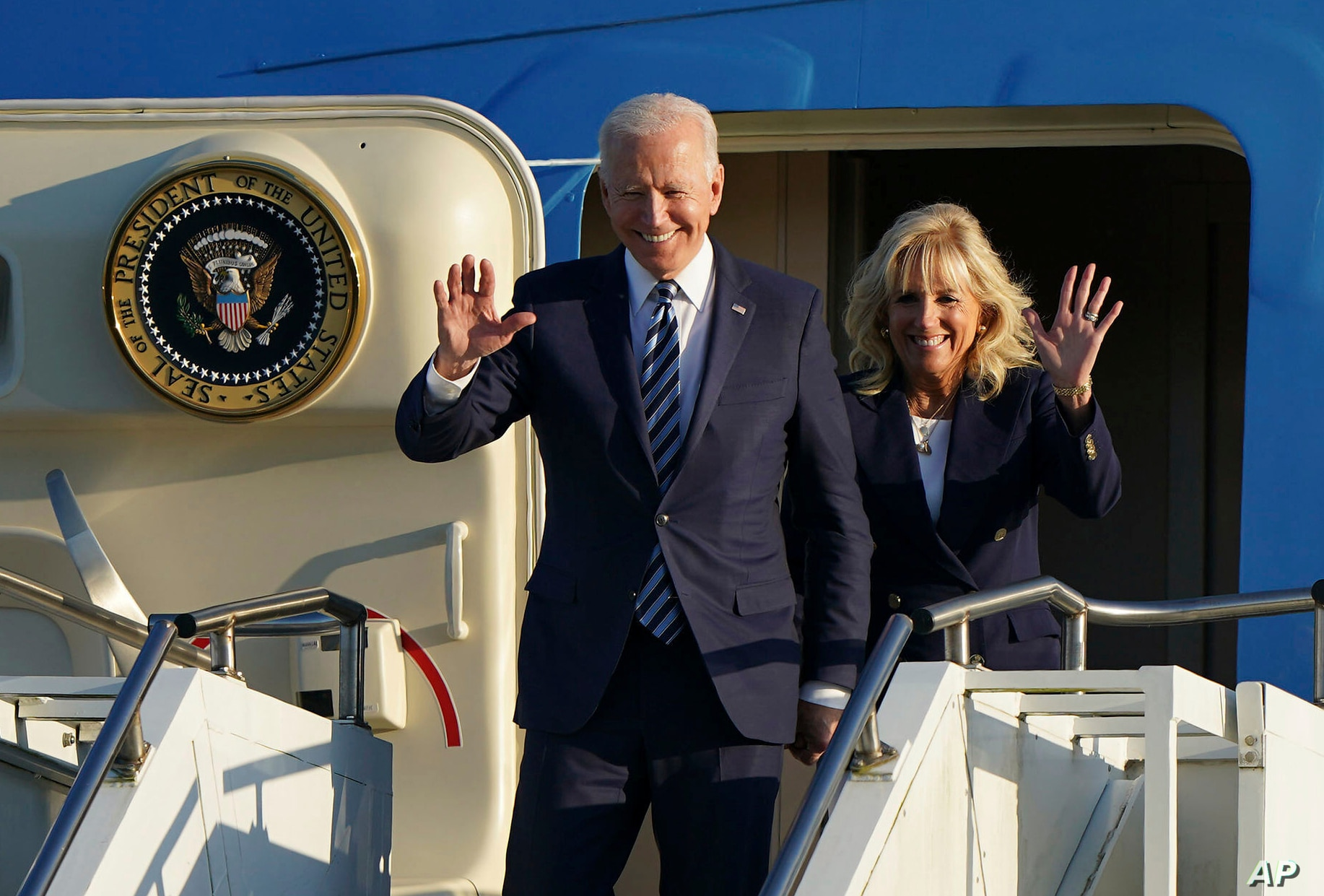 Biden praises United States troops and families during speech in England