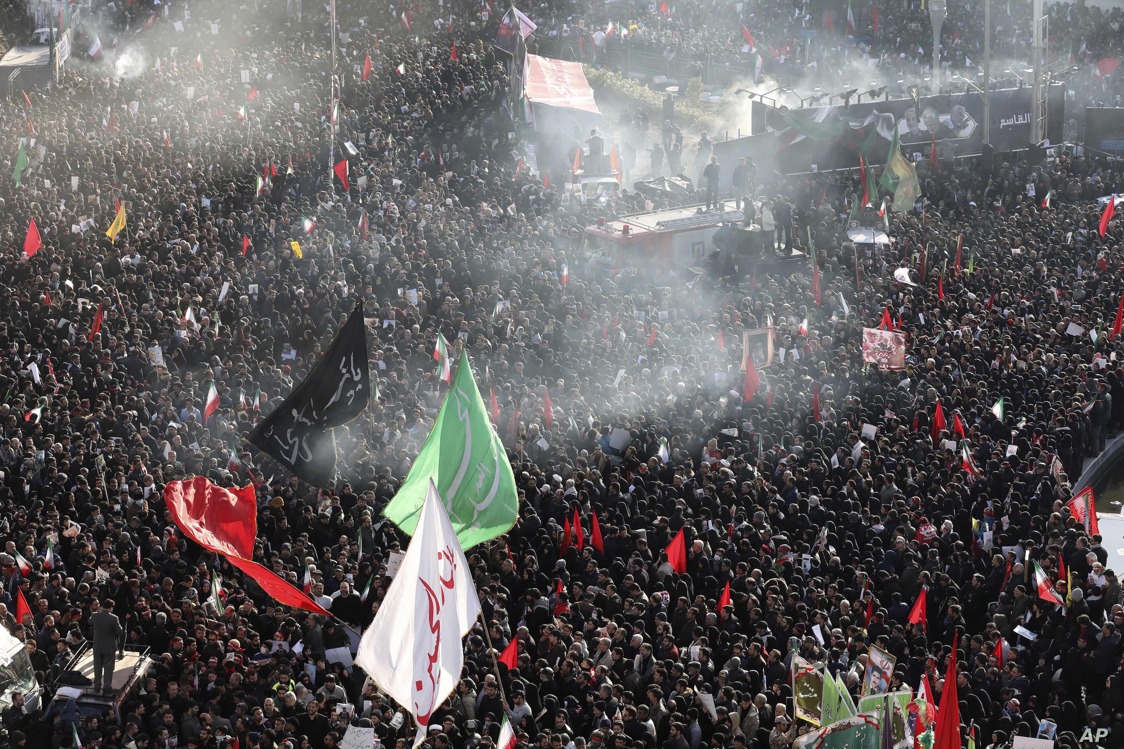 Massive Tehran Crowd Mourns Soleimani at His Funeral   Voice of America -  English