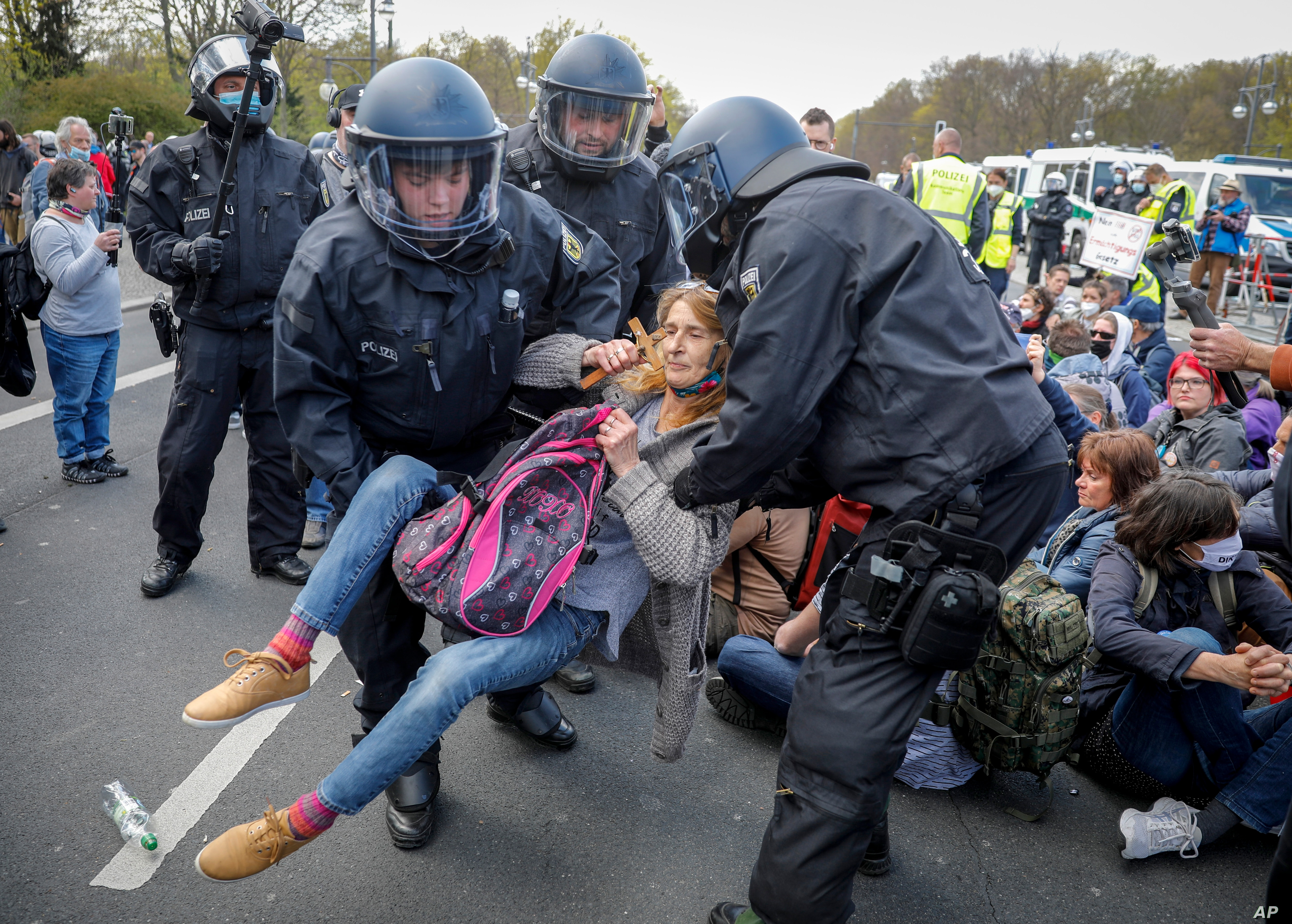 In Germany, 20 Arrested in Protests Over COVID Restrictions ...