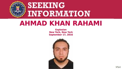 FBI poster seeking information on Ahmad Khan Rahami