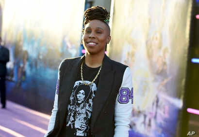 """Lena Waithe arrives at the world premiere of """"Ready Player One"""" at the Dolby Theatre on Monday, March 26, 2018, in Los Angeles."""