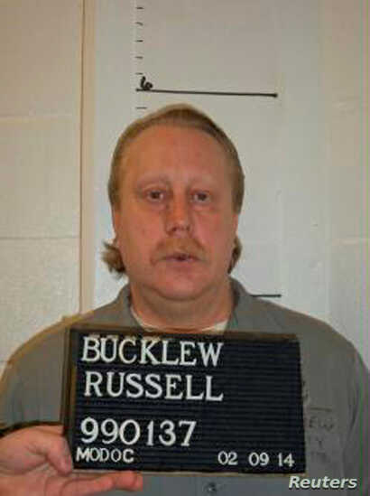 FILE - Death row inmate Russell Bucklew is shown in this Missouri Department of Corrections photo taken Feb. 9, 2014.